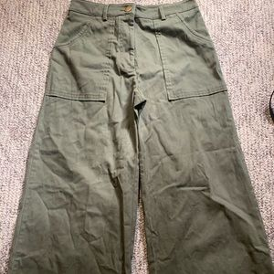 Olive Green Small Forever 21 flared pants